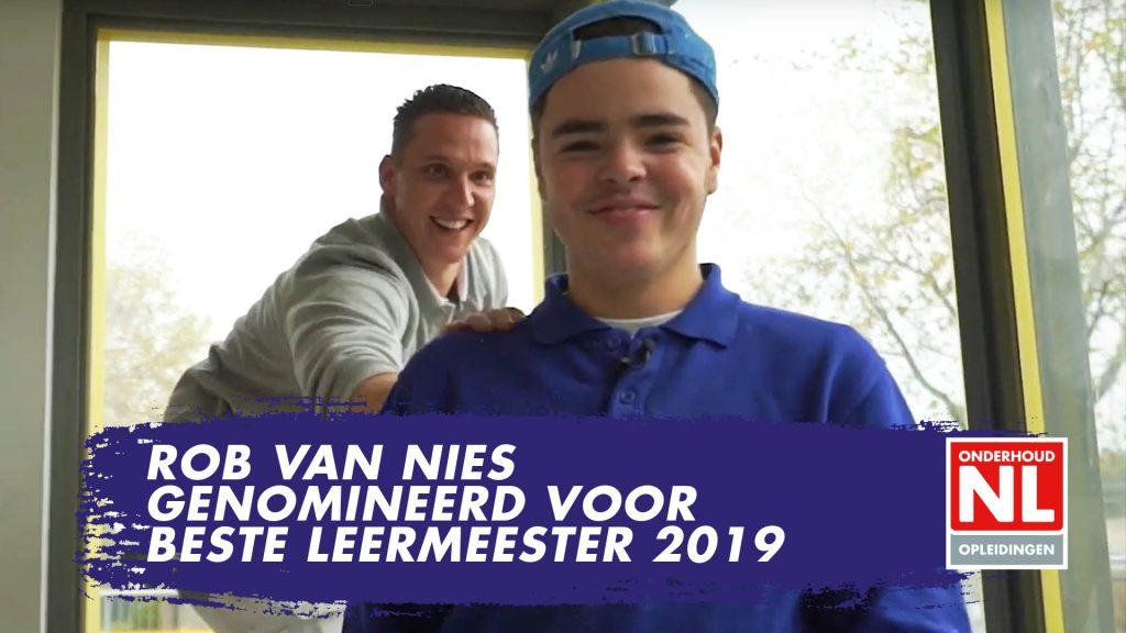 Rob van Nies Genomineerd voor Beste Leermeester 2019